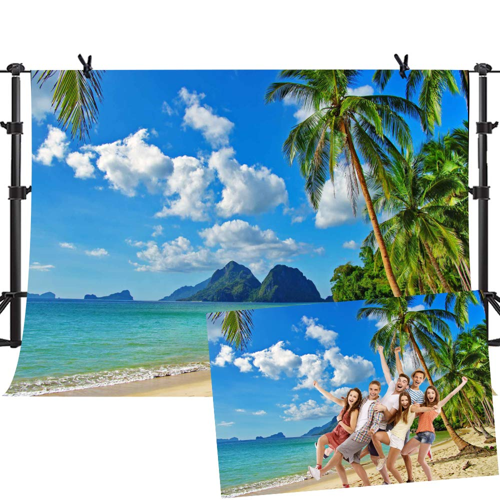 MME 10ftx7ft Tropical Backdrop Beach Photo Backdrop for Picture Moana Party Photography Props GEME745