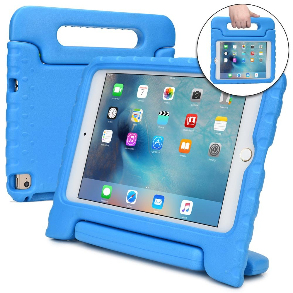 check out 131eb 81f12 Cooper Dynamo [Rugged Kids Case] Protective Case for iPad Mini 4 | Child  Proof Cover with Stand, Large Handle, Screen Protector | A1538 A1550 (Blue)