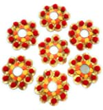 GiftsBouquet Smart Creations Handcrafted Decorative Diwali Rangoli/Floor Decoration/Tealight Holder- Multicolour Set of 7
