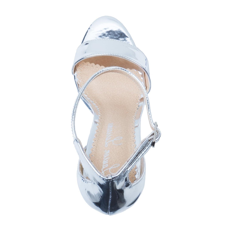 Lauren Lorraine Silver Darlene Platform Special B(M) Occasion Sandal B07C2786J5 5.5 B(M) Special US Silver 3783e7