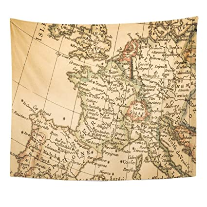 Amazon.com: Emvency Decor Wall Tapestry France Antique Old ...