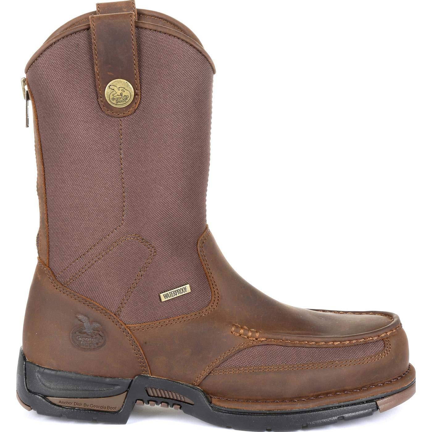 Georgia Mens Boot Athens Waterproof Western Work Moc Toe Brown 14 D