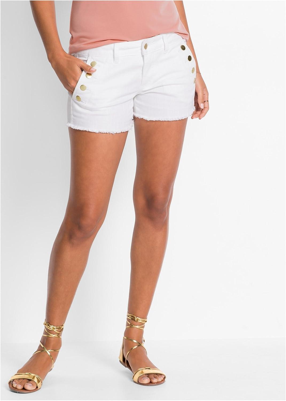 223739 in Medium Blue Denim 40 Damen Jeans-Shorts mit Knöpfen
