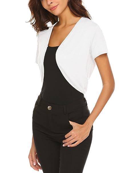 255c65992e07 UNibelle Coprispalle Bolero Top da Donna con Scollo a V Bolero Basic  Elegante Comodo Aperto Leggero S-XXL  Amazon.it  Abbigliamento