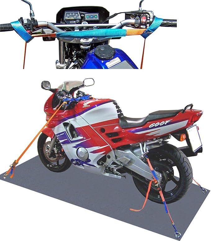 Shz Spanngurt Motorrad Motorradsicherung Komplett Vorn Hinten Motorrad Zurrsystem Motorradspanngurt Motorradtransport 2 Auto