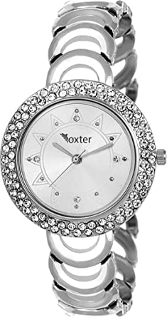 2c2cf2f0f JB Fashion Fancy Diamond Studded Partywear Wrist Watch for Girls and Women  (Silver) -