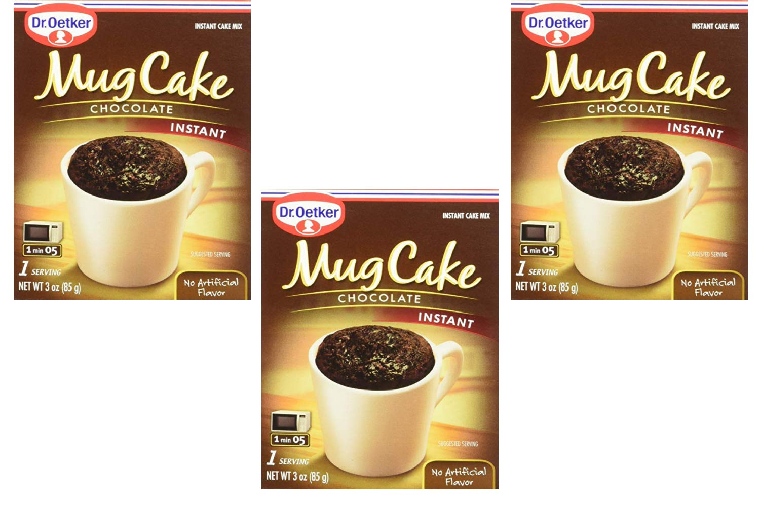 Dr. Oetker Mug Cake Chocolate Instant Cake Mix 3-Ounce (4 Count) (3 Pack)