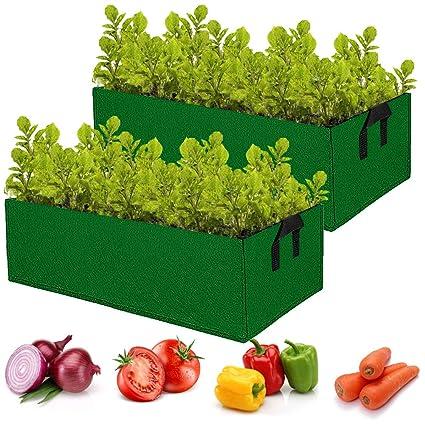 Amazon.com: ANPHSIN - 2 bolsas de cultivo para jardín ...