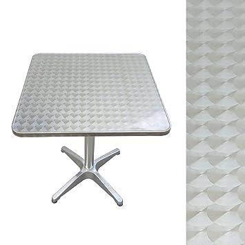 Macoshopde By Maco Mobel Bistrotisch Eckig Aus Metall 60 X 60 Cm Beistelltisch Gartentisch Aluminium