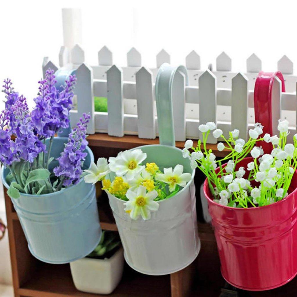 Amazon.com: Metal Iron Hanging Balcony Garden Plant Planter Flower ...