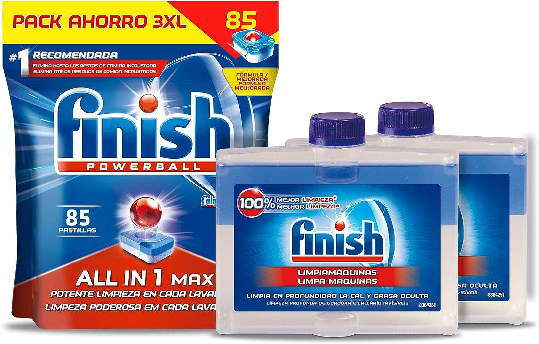 Finish Todo en 1 Max Regular Pastillas para Lavavajillas - 85 ...