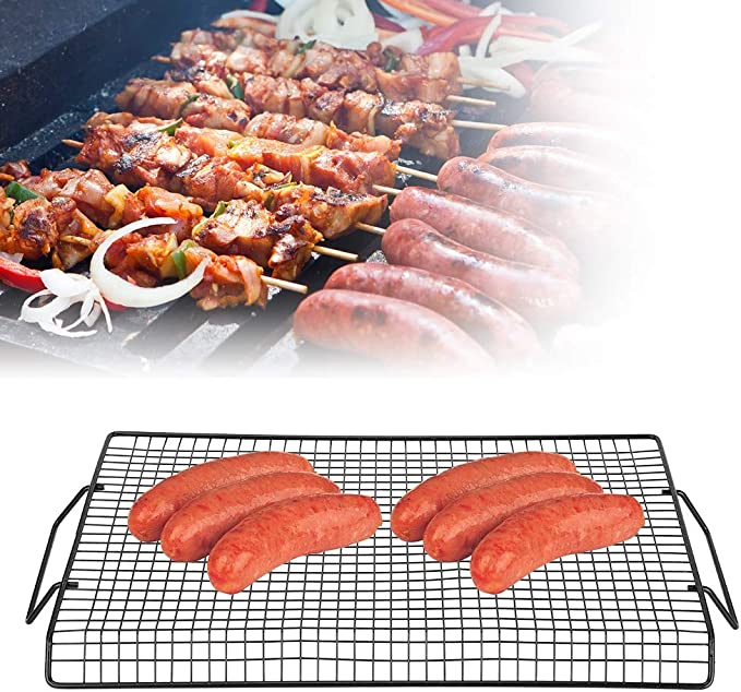 Stainless Steel BBQ Barbecue Grill Grilling Net Mesh Wire Cooking Tool I0O2