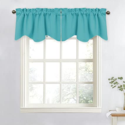 NICETOWN Short Curtain Blackout Valance Tier