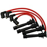 JDMSPEED New Red Ignition Spark Plug Wires Set