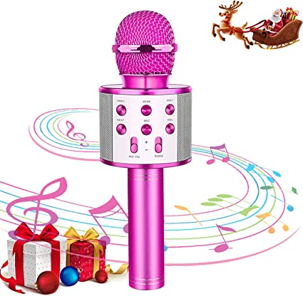 Karaoke Microphone Toy for Kids and Children Wireless Bluetooth with Recorder