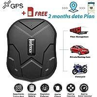 Localizador GPS para Automovil Rastreador GPS Tiempo Real con Imán Fuerte GPS Tracker para Autos Vehículo o Moto,Impermeable Localizador Vehiculos Localizador GPS Auto 5000 mAh Batería por hasta 90 días, Alarma de Vibración, Límite de Velocidad, Geo-cerca, para IOS y Android TK905(Tarjeta SIM Incluida con Datos)