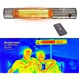 Gardigo in acciaio inox Stufa a infrarossi, terrazze, performance 4 gradini 650 – 2000 W, incl. telecomando
