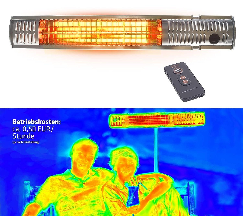 Gardigo in acciaio inox Stufa a infrarossi, terrazze, performance 4 gradini 650 – 2000 W, incl. telecomando performance 4 gradini 650 - 2000 W