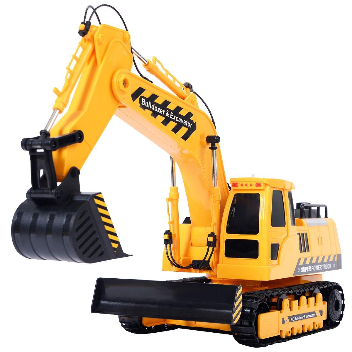 amazon com goplus new 1 18 5ch remote control rc excavator
