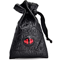 Drawstring Bag PU Leather Dice Pouch Perfect for Coin, D&D, Game