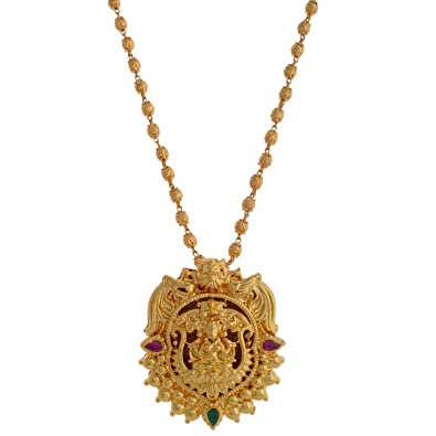 Buy 1 gram gold plated lakshmi pendant without chain online at low 1 gram gold plated lakshmi pendant without chain aloadofball Images