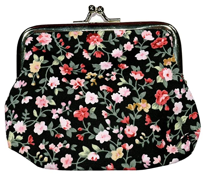 Bees Knees Fashion Monedero Mediano Seda Estampado Flores ...