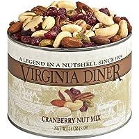 Virginia Diner - Gourmet Natural Cranberry Nut Mix (Virginia Peanuts, Almonds, Cashews, Pecans, Pistachios, Brazil Nuts…