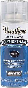 Rust-Oleum 200181 Polyurethane Water-Based Spray, Semi-Gloss Finish