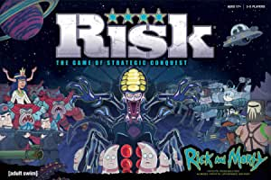 RISK Rick and Morty Risk Game   Based on the popular Adult Swim TV Show Rick & Morty   Official Rick and Morty Merchandise   Classic Risk Board Game Themed for Rick Morty Series