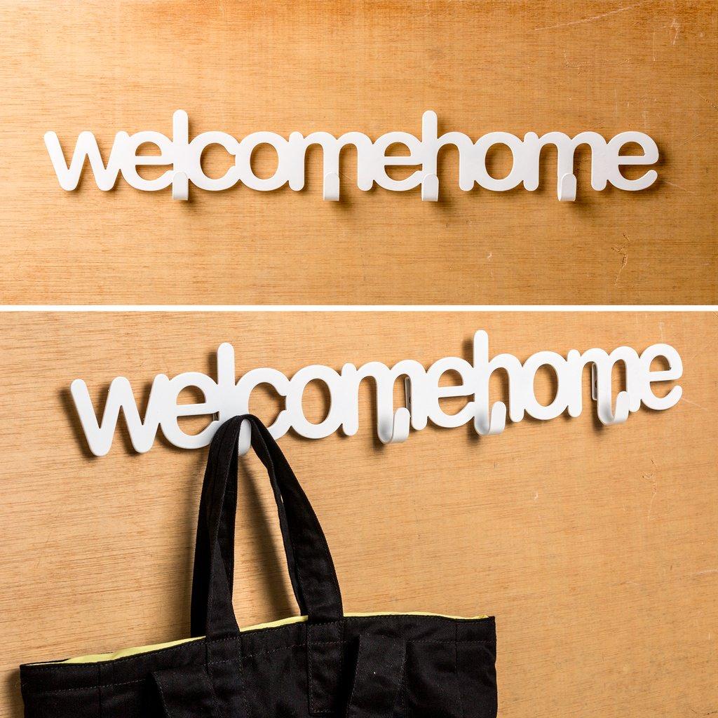 Balvi - Appendino parete Welcome home bianco metallo: Amazon.it ...
