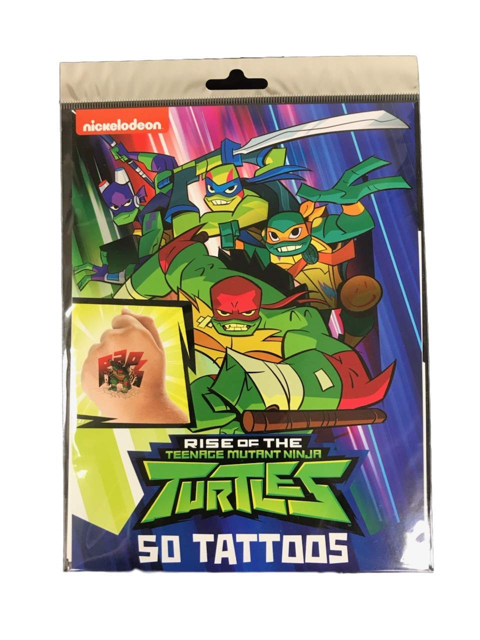 Savvi 50 Temporary Tattoos, Nickelodeons Teenage Mutant Ninja Turtles, 3-pack (150 Tattoos)