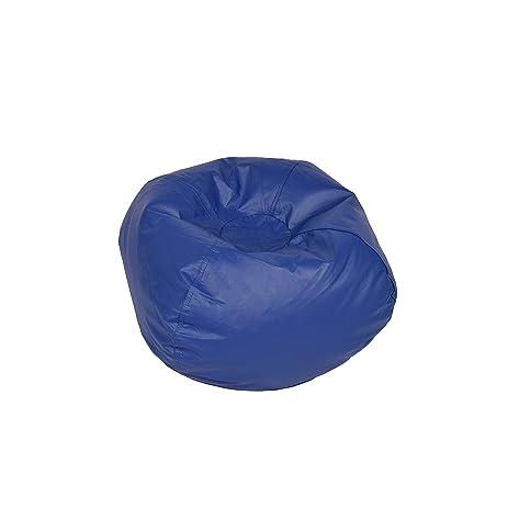 Classic Bean Bag Chair Color Blue Shiny