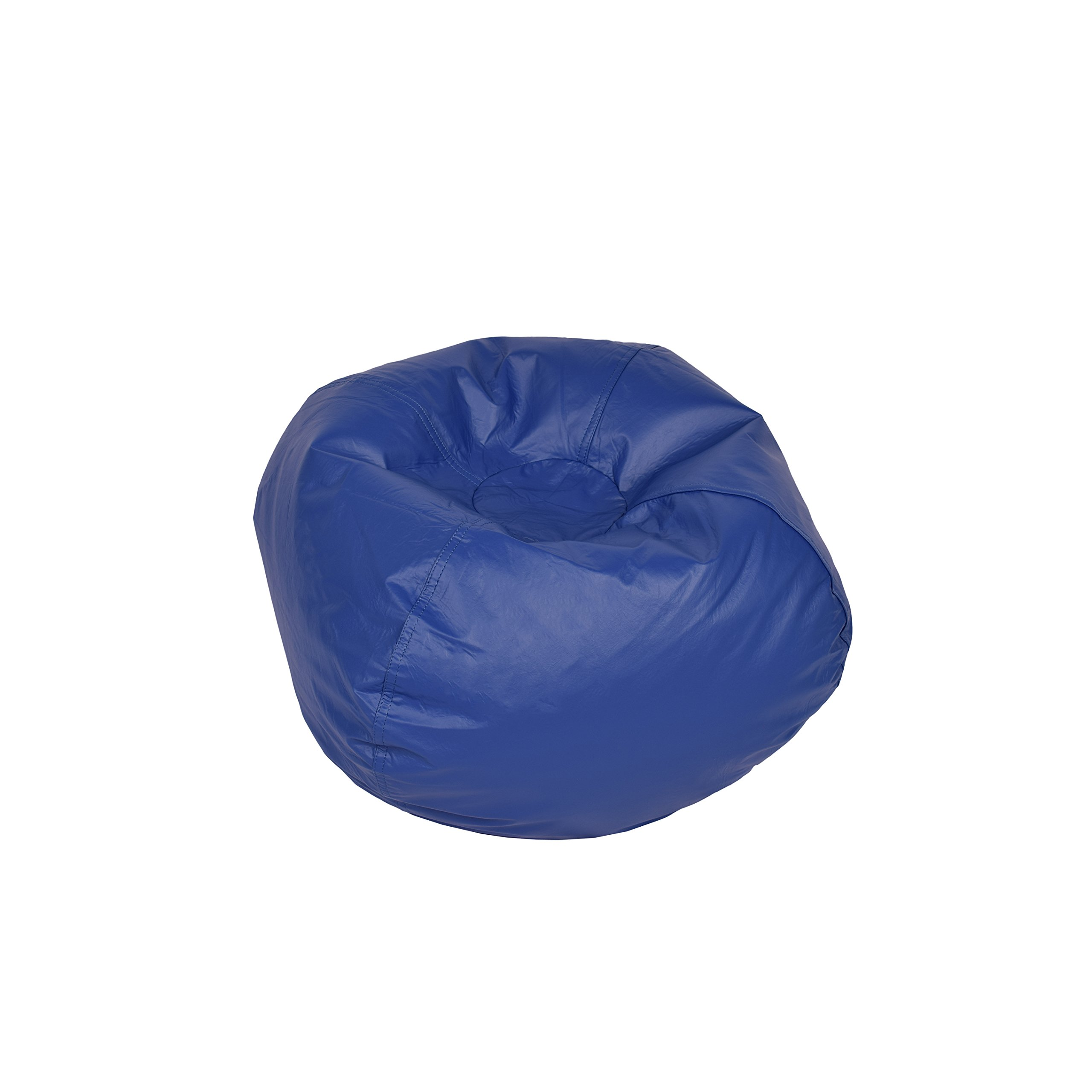 Classic Bean Bag Chair Color: Blue Shiny