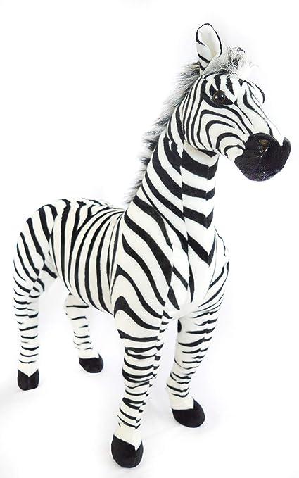Amazon Com Viahart Zelassie The Zebra 3 Foot Big Stuffed Animal