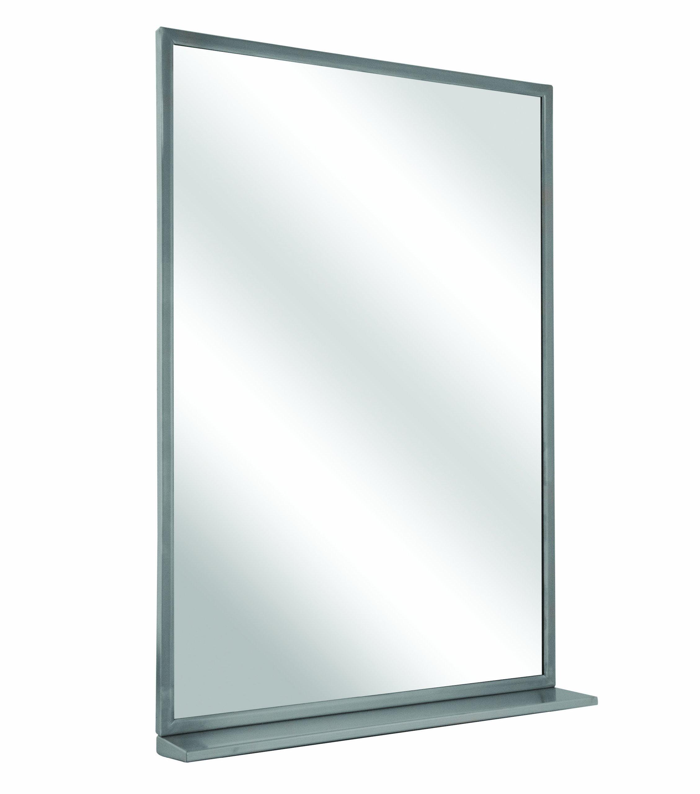 Bradley 7805-018360 Float Glass Angle Frame Mirror with Shelf, 18'' Width x 36'' Height