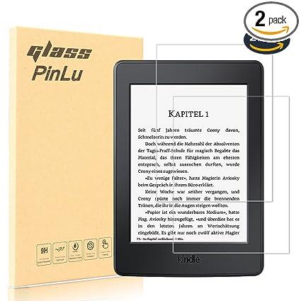 pinlu [2 Pack] Protector de Pantalla de Cristal para Amazon Kindle ...