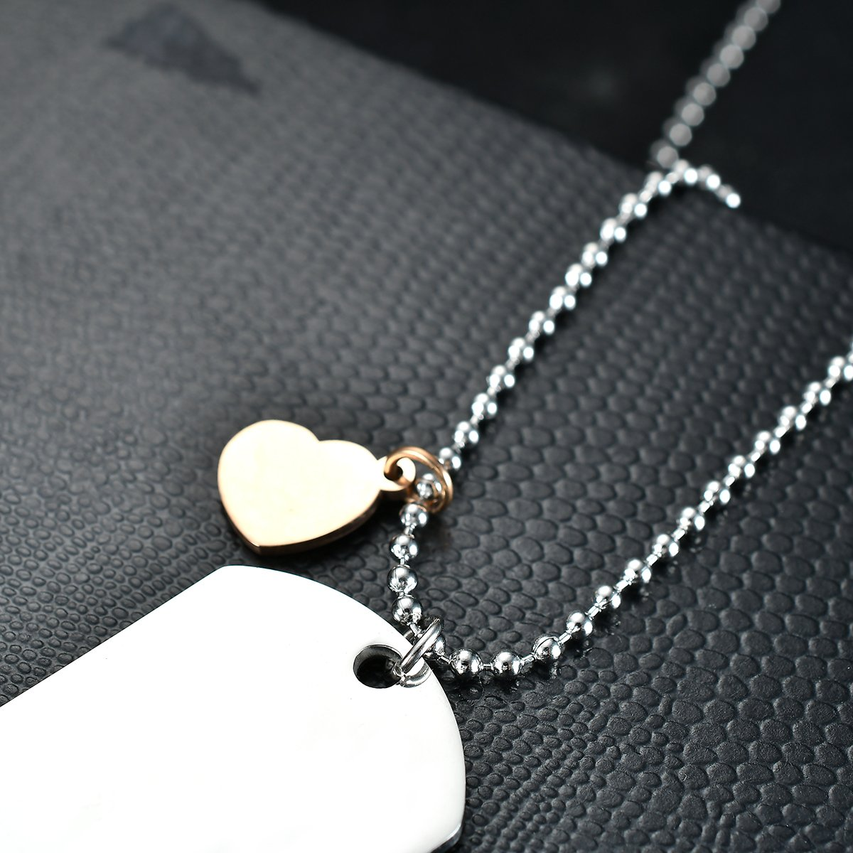 NOVLOVE To my daughter from dad Stainless Steel Dog Tag Letters To my daughter never forget how.love dad Pendant Necklace,Inspirational Gifts For daughter Jewelry by NOVLOVE (Image #5)