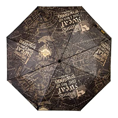 Harry Potter I Solemnly Swear Black Compact Folding Umbrella Witchcraft Wizards