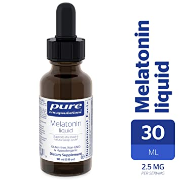 Pure Encapsulations - Melatonin Liquid - Hypoallergenic Supplement Supports the Bodys Natural Sleep Cycle* -