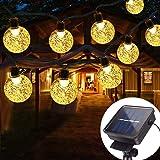 Cadena Luces Solares ,Vagalbox 22 ft 50 LED Solar Luces LED 2 Modos Impermeable IP65 Luces Solares con Modelo de Ball…