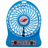 Premsons Portable Rechargeable Battery Usb Mini Fan (Colours May Vary) 3 Adjustable Speed Levels By Premsons