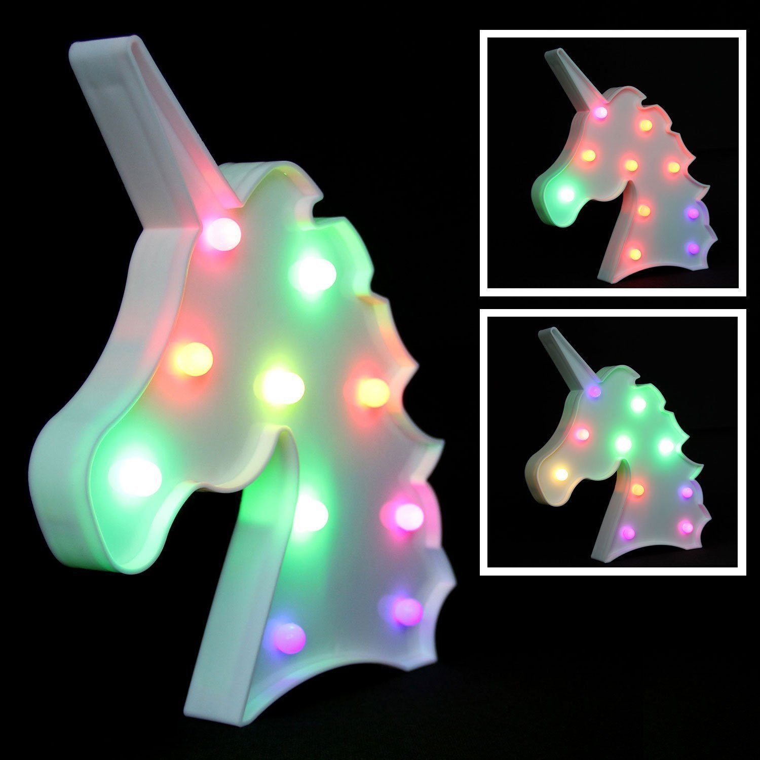 Unicorn Light Unicorn Party Supplies Kids Unicorn Colorful Unicorn Lamp Battery Operated Unicorn Table Decorations for Wall Decoration,Kids' Room,Living Room,Bedroom (Colorful Unicorn) by KiBlue (Image #8)