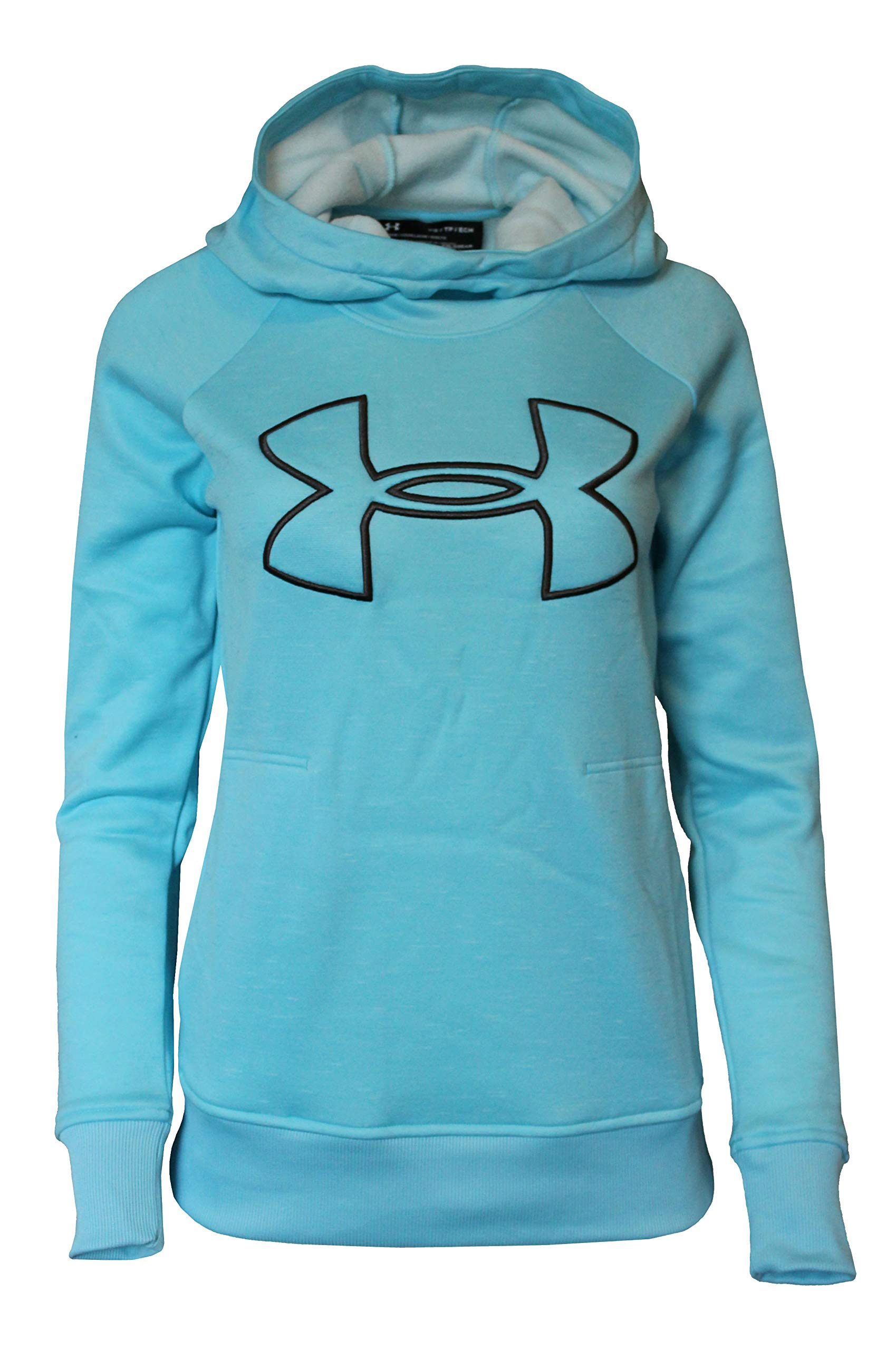 Under Armour Women's Hoodie Active Big Logo Pullover 1318396 (Venetian Blue, S) by Under Armour