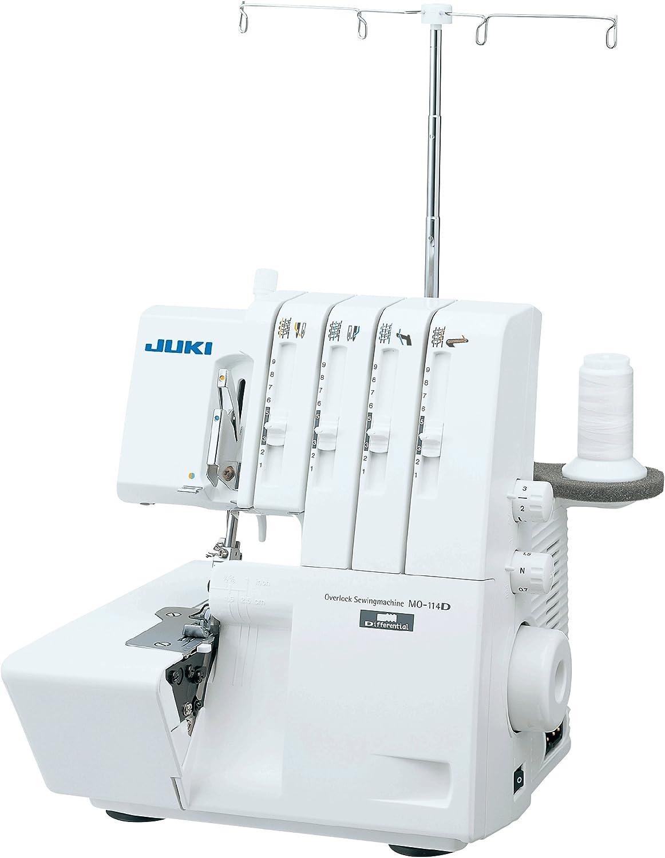 JUKI MO 114D Overlock - Máquina de Coser, Metal, Blanco, 31,5 x 29 ...