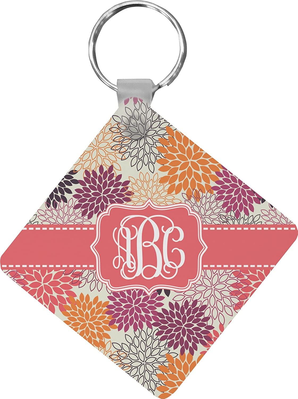 Mums Flower Diamond Key Chain (Personalized)