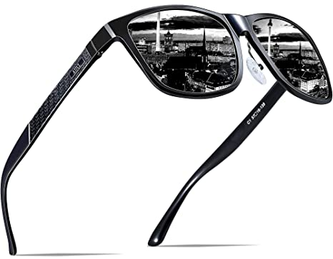 7dbc2d67ad ATTCL Men s Retro Metal Frame Driving Polarized Sunglasses For Men  18587black