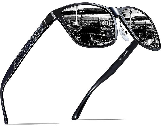 b8e83e93ab ATTCL Men s Metal Frame Driving Polarized Sunglasses1 8587black ...