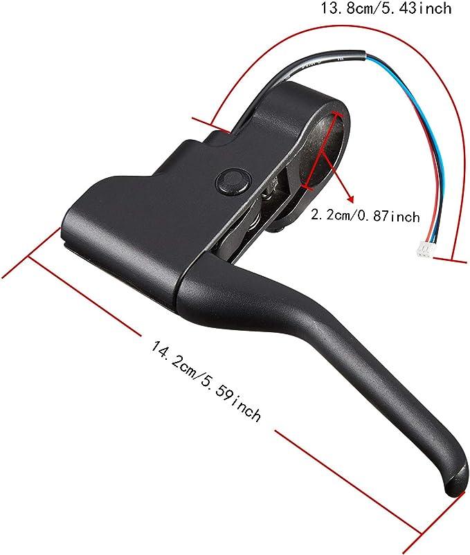 Maniglia del freno dello scooter Sostituzione della parte della leva dei freni della maniglia del freno in alluminio per scooter elettrico Xiaomi Mijia M365