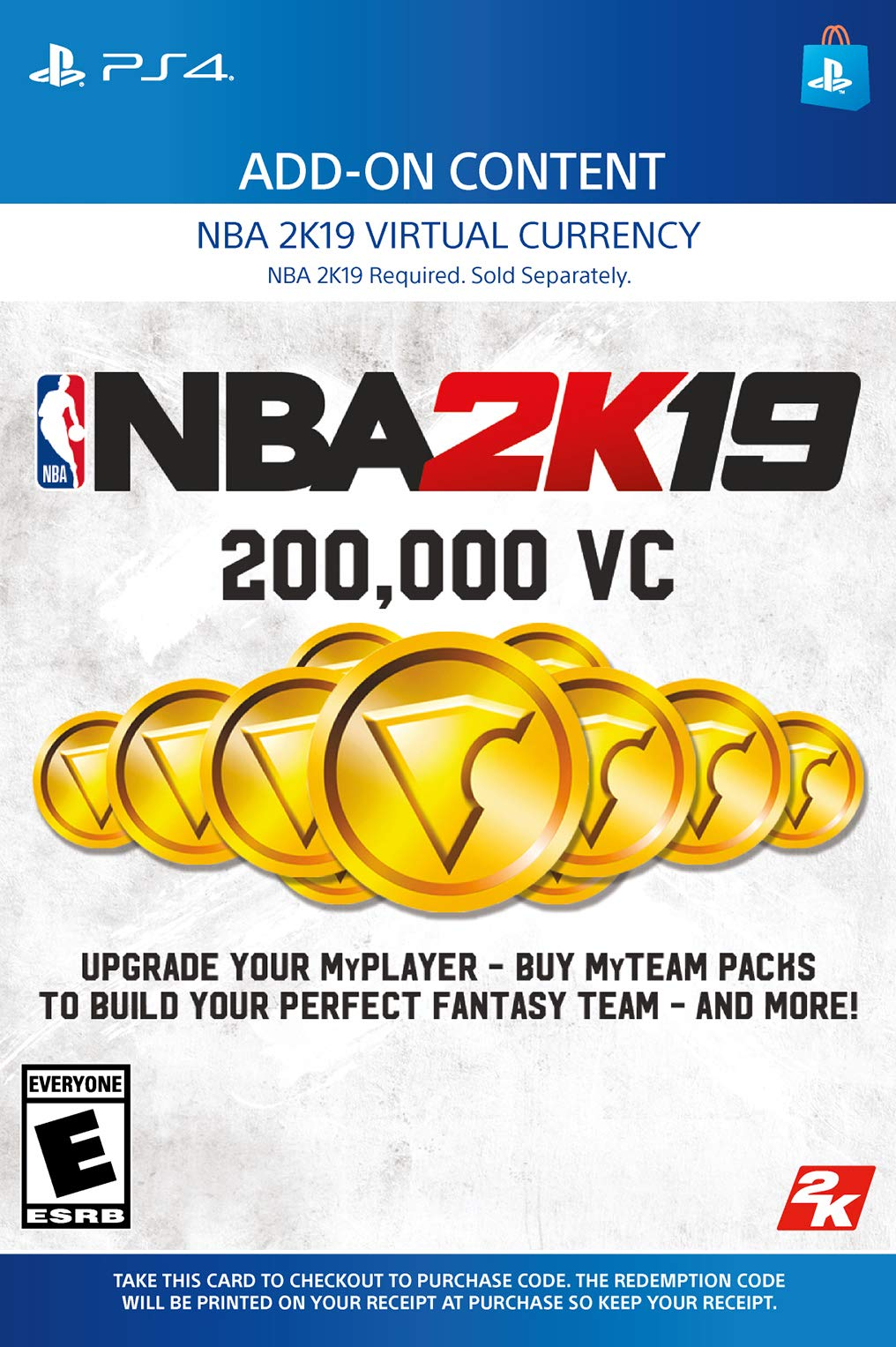 NBA 2K19: 200000 VC Pack - PS4 [Digital Code]