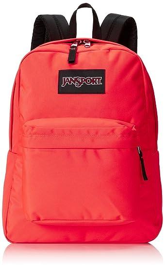Amazon.com : Jansport Superbreak Backpacks (Fluorescent Red ...